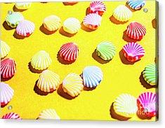 Yellow Seaside Scenes Acrylic Print