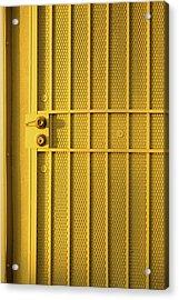 Yellow Security Door Venice Beach California Acrylic Print