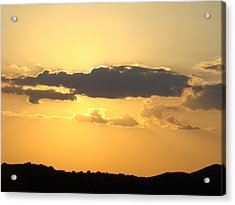 Yellow Sky Two Acrylic Print by Ana Villaronga