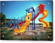 Yellow Slide Acrylic Print by Yo Pedro