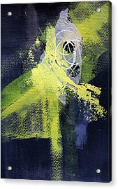 Acrylic Print featuring the painting Yellow Splash by Nancy Merkle