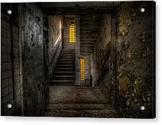 Yellow Stairs Acrylic Print