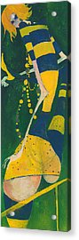 Yellow Stripes Acrylic Print