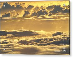 Yellow Sunset Acrylic Print by Carl Shaneff - Printscapes