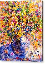Yellow Sunshine Acrylic Print by Natalie Holland