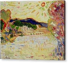 Beynac Et Cazenac , Dordogne , Yellow Sunshine  Acrylic Print