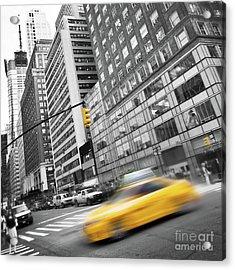 Yellow Taxi Nyc Acrylic Print
