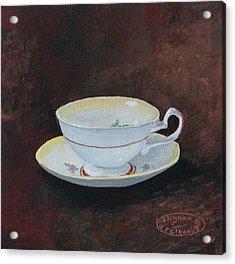 Yellow Teacup Acrylic Print by Sharon Steinhaus