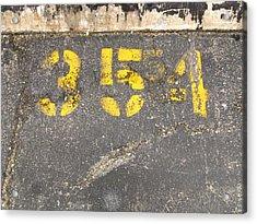 Yellow Three Five Five Four Acrylic Print