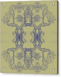 Yellow Tree 14 Hybrid 4 Acrylic Print