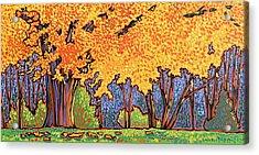 Yellow Tree Acrylic Print by Nadi Spencer