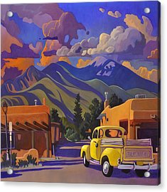 Yellow Truck Square Acrylic Print