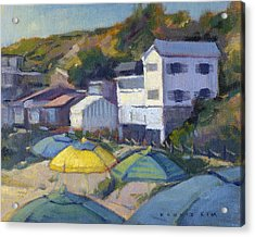 Acrylic Print featuring the painting Yellow Umbrella  by Konnie Kim
