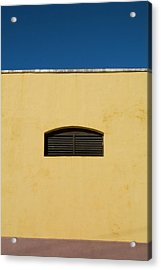 Yellow Wall In Trinidad Acrylic Print by Sami Sarkis