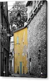 Acrylic Print featuring the photograph Yellow Wall by Rasma Bertz