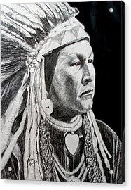 Yellow Wolf Acrylic Print by Stan Hamilton
