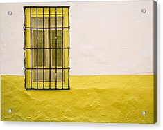 Yellowed Wall Acrylic Print by Piet Scholten