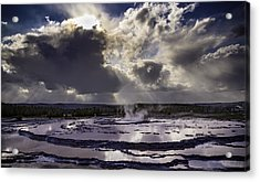 Yellowstone Geysers And Hot Springs Acrylic Print