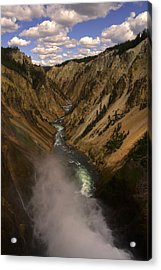 Yellowstone Grand Canyon Acrylic Print by Patrick  Flynn