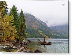 Yellowstone Lake Fall Acrylic Print