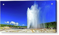 Acrylic Print featuring the painting Yellowstone National Park Beehive Geyser by Christopher Arndt