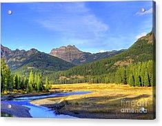 Yellowstone National Park Landscape Acrylic Print