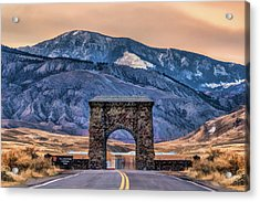 Acrylic Print featuring the painting Yellowstone National Park North Entrance by Christopher Arndt