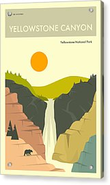 Yellowstone National Park Poster Acrylic Print by Jazzberry Blue