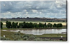 Yellowstone River After The Storm Acrylic Print by Aliceann Carlton