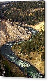 Yellowstone River Canyon Acrylic Print by Marty Koch
