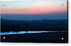 Yellowstone River Evening Acrylic Print by Aliceann Carlton