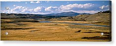 Yellowstone River In Hayden Valley Acrylic Print by Panoramic Images