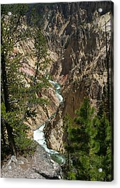 Yellowstone River Acrylic Print by Linda Phelps