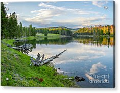 Yellowstone River Off Grand Loop Acrylic Print