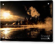 Yellowstone River Sunrise Acrylic Print