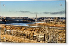 Yellowstone River View Acrylic Print by Aliceann Carlton