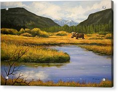 Yellowstone Saga Acrylic Print by Brooke Lyman