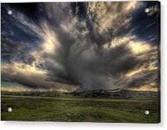 Yellowstone Storm Acrylic Print