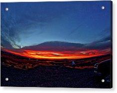 Yellowstone Sunset Acrylic Print
