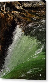 Yellowstone Upperfalls Acrylic Print by Patrick  Flynn