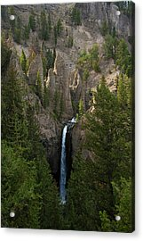 Acrylic Print featuring the photograph Yellowstone Waterfall by Roger Mullenhour