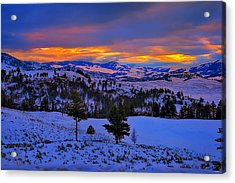 Yellowstone Winter Morning Acrylic Print