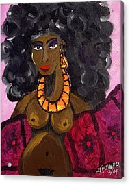 Yemaya Aphrodite Gives Advice. Acrylic Print by Ifeanyi C Oshun