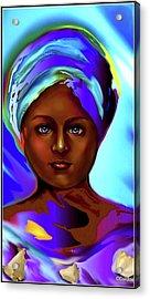 Yemaya -the Ocean Goddess Acrylic Print by Carmen Cordova