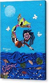 Yemaya Acrylic Print by Carla J Lawson