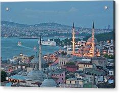 Yeni Camii Acrylic Print by Salvator Barki