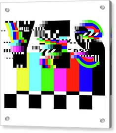 Acrylic Print featuring the digital art YES by Bee-Bee Deigner