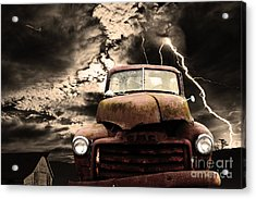 Yesterday Came Early . Tomorrow Is Almost Over Acrylic Print by Wingsdomain Art and Photography