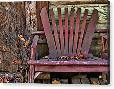 Yesterday's Chair Acrylic Print by Bonnie Bruno
