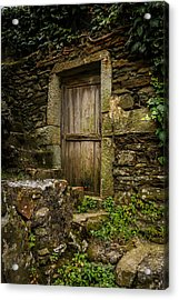 Yesterday's Garden Door Acrylic Print by Kathleen Scanlan